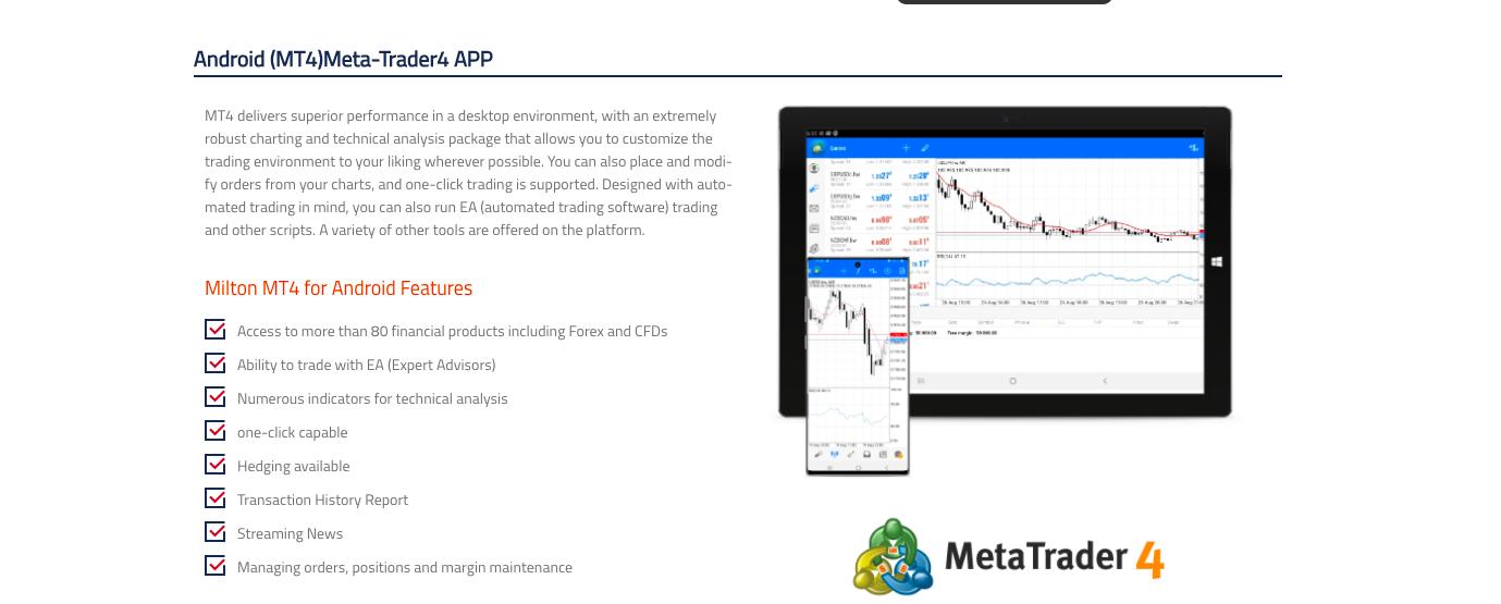 Milton Prime trading platform review